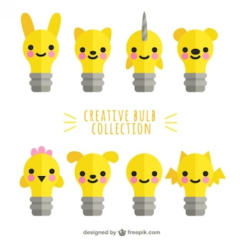 Lightbulbs characters pack