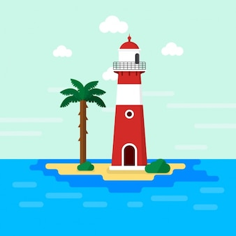 Lighthouse background design