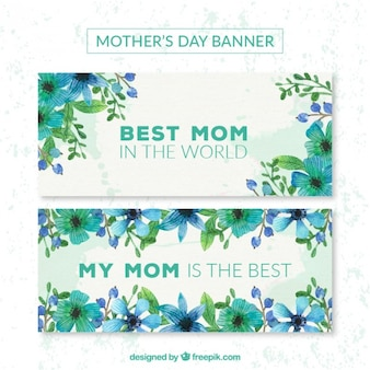 Lilac flowers mother's day banners