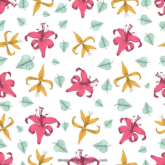 Lily flower pattern