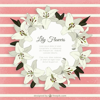 Lily flowers frame