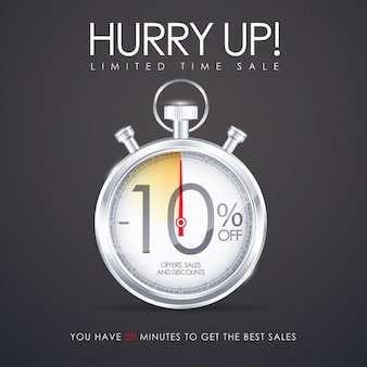 Limited time sales background
