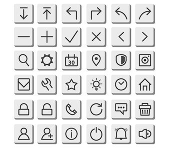 Line Thin Icon Button