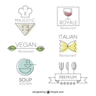 Lineal modern restaurant logos