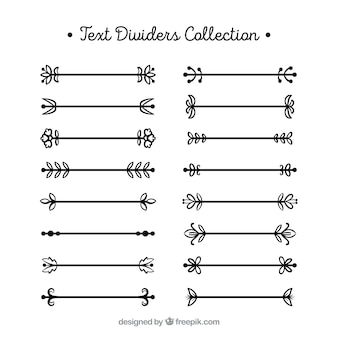 Lineal text dividers