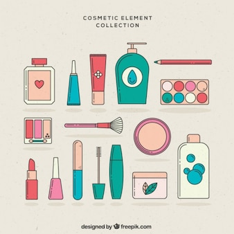 Linear cosmetic elements