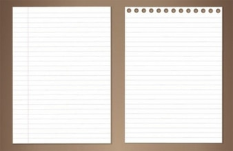 lined coiled paper vector pack