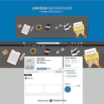 LinkedIn writer background