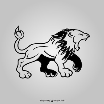 Lion graphic symbol