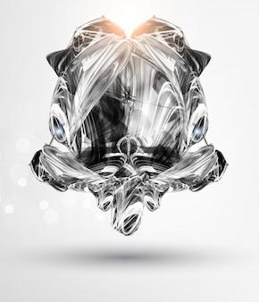 Liquid metal concept banner line