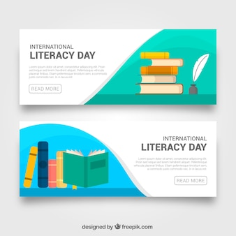 Literacy day book banners