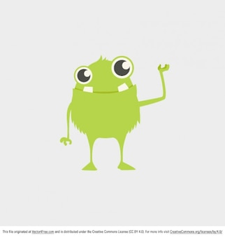 Little green monster vector