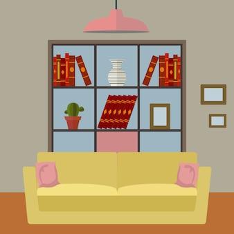 Living room background design
