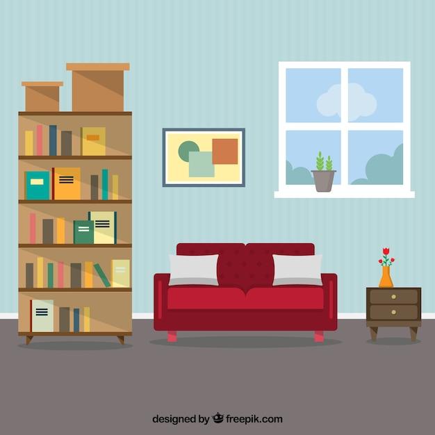 Free Living Room Vector Illustration   Download Free Vector Art ..