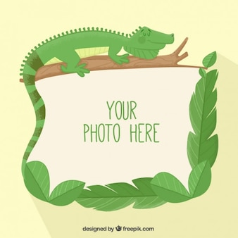 Lizard photo frame