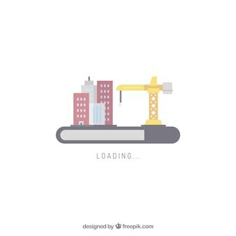 街のスカイラインのウェブ要素をロード