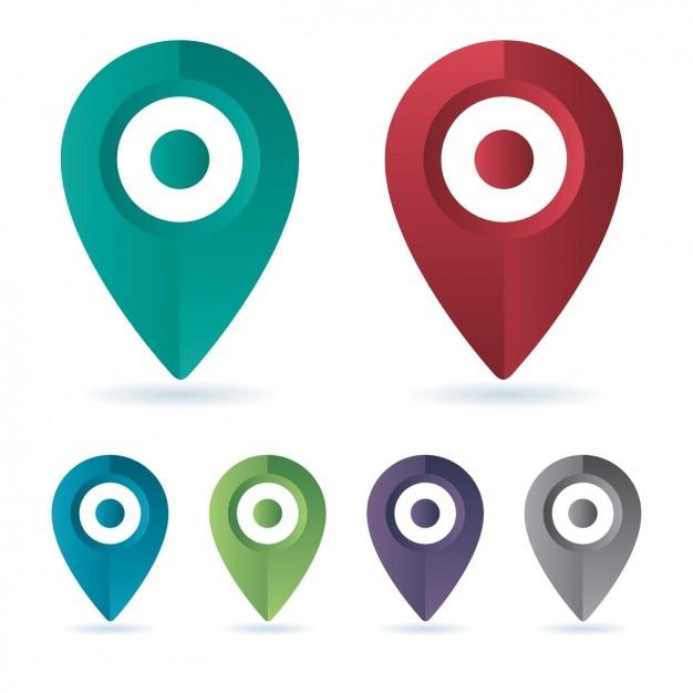 Map pins set Vector | Free Download
