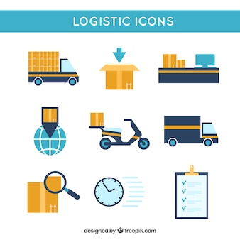 Logistic icons collection