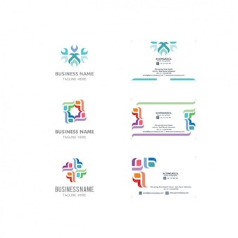 Logo and business card templates collection