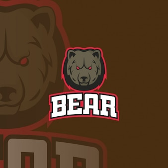 Logo bear on a brown background