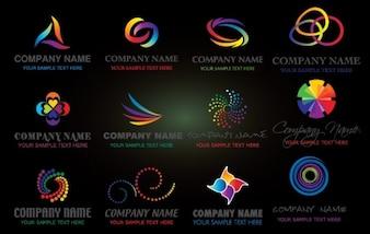ロゴのカラフルな会社名