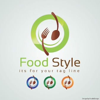 Logo for an organic restaurant