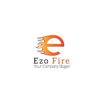 Logo letter  e  in flames