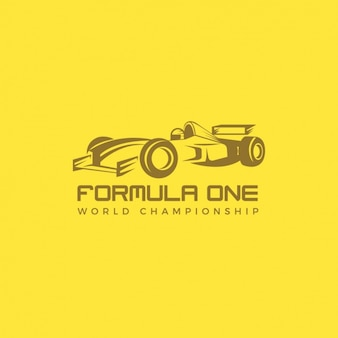Logo of racing cars on a yellow background