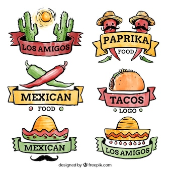 Logo set for mexican restaurants