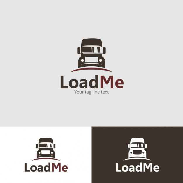 Logo template with bus