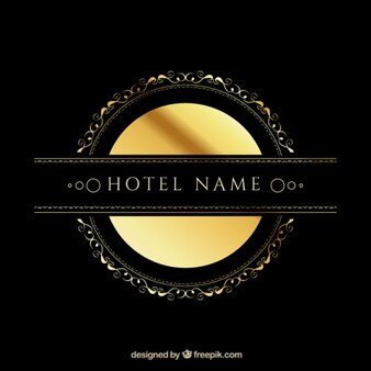 Logo template with golden elements
