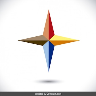 Logo with 3d star form