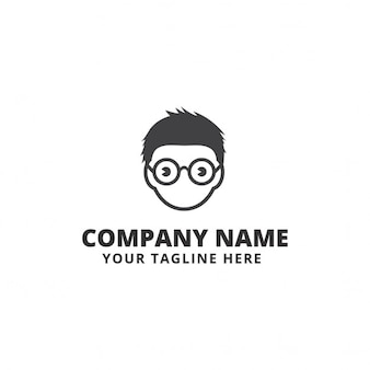 Logo with a face