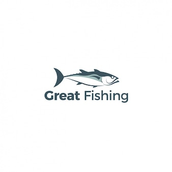 Logo with a fish on a white background