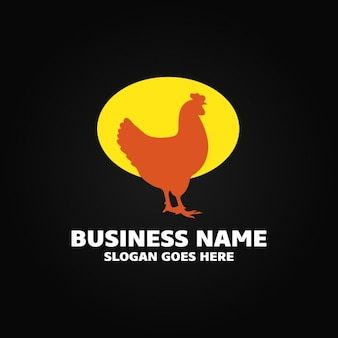 Logo with a hen
