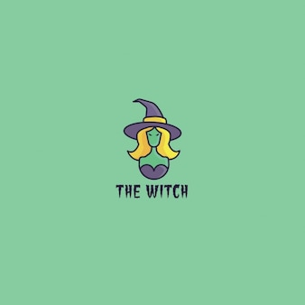 Logo with a witch