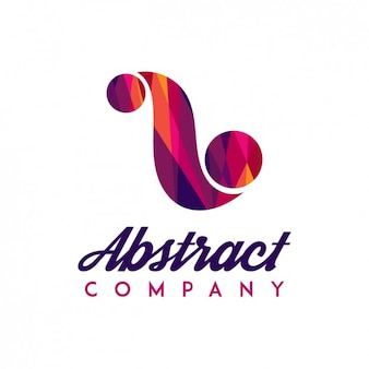 Logo with abstract colorful shape