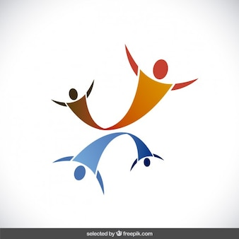 Logo with abstract human silhouettes