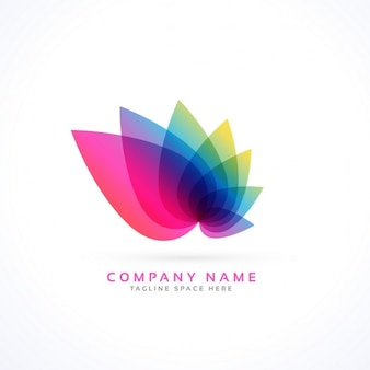 Logo with abstract leaves