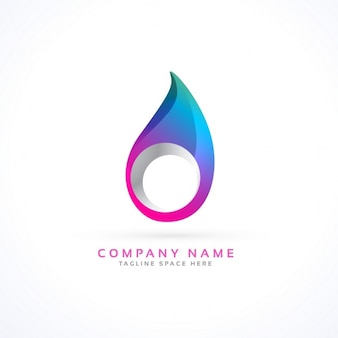Logo with an abstract drop