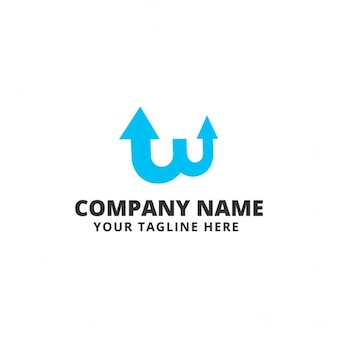 Logo with blue arrows