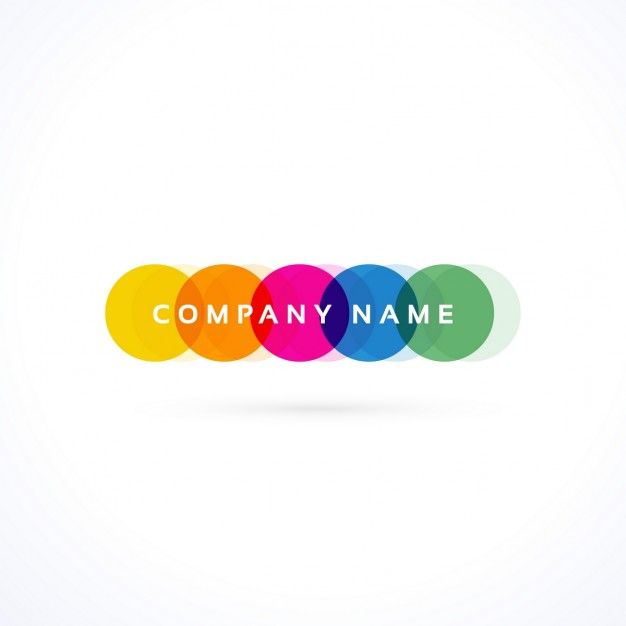 Logo with colored circles