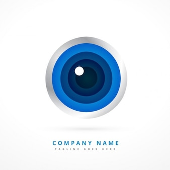 Logo with eye shape