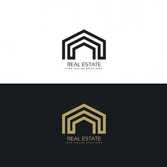 Logo with geometric arcs