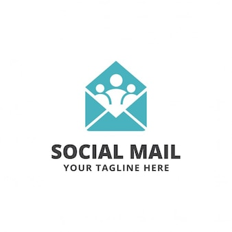 Logo with people inside an envelope