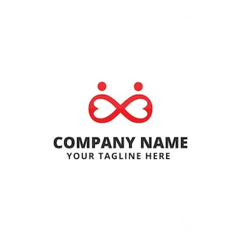 Logo with red infinity symbol