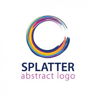 丸みを帯びたスプラッター形状のロゴ