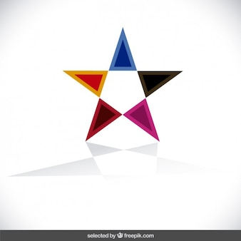 Logo with star form