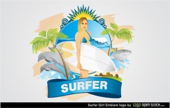 Logo Woman Surfer Super