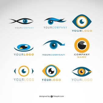 Logos eyes vector set